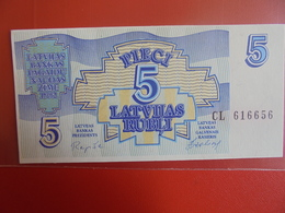 LETTONIE 5 RUBLI 1992 PEU CIRCULER/NEUF - Latvia