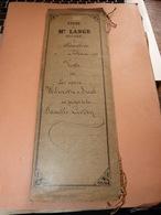 Acte Notarié 3/2/1895 Notaire Lange Marchin Familles Wilmotte Smal Godin Gillard à  Marchin Et Huy - Manuscrits