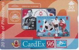 Nº 45 TARJETA DE GIBRALTAR DE CARDEX 96  NUEVO-MINT - Gibraltar