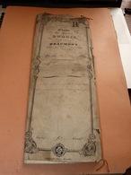 Acte Notarié 29/5/1854 Notaire Dubois Beaumont Familles Robert à Thirimont - Manuscrits