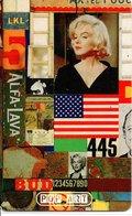 MARYLINE MONROE Cinéma Film Star Chanteuse Musique  Femme Girl USA Drapeau Télécarte Phonecard (G 165) - Personnages