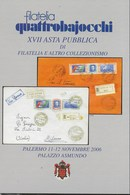CARTOLINA PROMOZIONALE ASTA QUATTROBAIOCCHI 2006 - NUOVA - Francobolli (rappresentazioni)