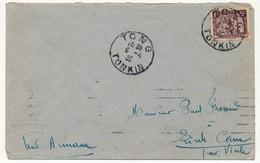 INDOCHINE - Enveloppe Depuis TONG (Tonkin) 1934 - Indochine (1889-1945)