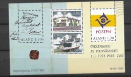 1993 MNH Aland  Block 2, Postfris - Aland