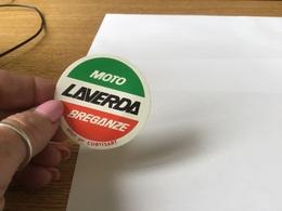 Autocollant Années 80 En L état Voir Verso Moto  Laverda Offert Par Les Biscottes Corvisart - Stickers