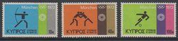 Cyprus 1972 Olympic Sommergames Munchen 3v ** Mnh (42794F) - Ongebruikt