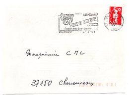 HERALDIQUE = 22 GUINGAMP 1991 = FLAMME  SECAP Illustrée D'ARMOIRIES 'FETES SAINT LOUP... FESTIVAL DANSE BRETONNE' - Postmark Collection (Covers)