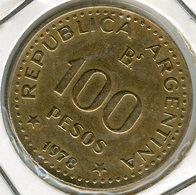 Argentine Argentina 100 Pesos 1978 200 Ans De Jose De San Martin KM 82 - Argentina