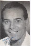 Carte Georges Guétary   Dédicacée   1964 - Artistes