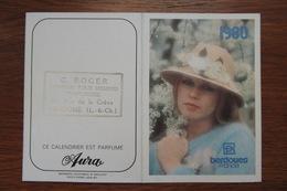 CALENDRIER PARFUME PARFUM BERDOUES ANNEE 1980 COIFFEUR A VENDOME LOIR ET CHER - Calendars
