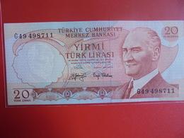 TURQUIE 20 LIRASI 1970(74) PEU CIRCULER/NEUF - Turquie