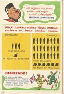 CP Propagande Anglaise Portugal L'Italie Contre L'Empire Britannique Mussolini 1941 - Guerre 1939-45