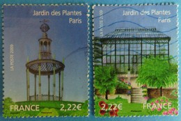 France 2009 : Jardins De France, Le Jardin Des Plantes à Paris N° 4384 à 4385 Oblitéré - Frankreich