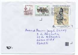 - Lettre PRAHA / PRAGUE (Tchéquie) Pour NICE (France) 1999 - Bel Affranchissement Philatélique - - Tchéquie