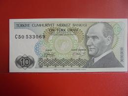 TURQUIE 10 LIRASI 1970(79) PEU CIRCULER/NEUF - Turquie