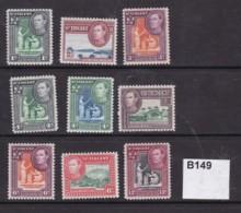St Vincent 1949 9 Values To 12c (MM) - St.Vincent & Grenadines