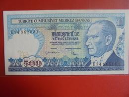 TURQUIE 500 LIRASI 1970(83) PEU CIRCULER/NEUF - Turquie
