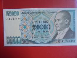 TURQUIE 50.000 LIRASI 1970(89) PEU CIRCULER/NEUF - Turquie