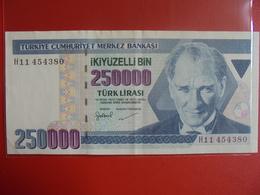 TURQUIE 250.000 LIRASI 1970(98)  CIRCULER - Turquie