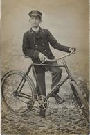 PARIS Cycliste.13, Rue Du Moulin Vert.Carte Photo Télégraphiste - Arrondissement: 14