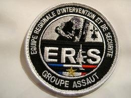 ECUSSON TISSUS PATCH ADMINISTRATION PÉNITENTIAIRE ERIS GROUPE ASSAUT SUR VELCROS - Polizia