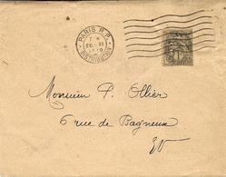 1919- Enveloppe Ouverte De Paris  Affr. 1 C Blanc Ardoise -cartes Et Circulaires électorales Tarif Du 1 Er Avril 1920 - Storia Postale