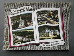 CP 37 Souvenir De SAINTE MAURE De TOURAINE - Décor Livre Ouvert > L'église,vue Générale,le Viaduc,château De Brou 1964 - France