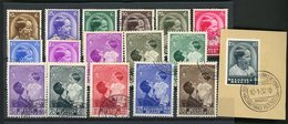 BELGIQUE 1936/1937 N° 438 à 454 Oblitérés (17 Valeurs). Cote 26 € - Gebraucht
