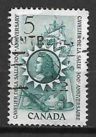 CANADA    -   Cavelier De La Salle  /  Bateau à Voiles  /  Longue Vue  /  Cartes   -    Oblitéré - 1952-.... Règne D'Elizabeth II