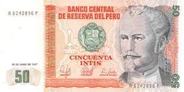 50 Intis Peru 1987 UNC - Pérou