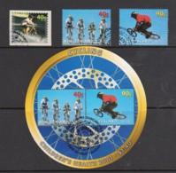 New Zealand 2001 Children's Health - Cycling Set Of 3 + Minisheet Used - New Zealand
