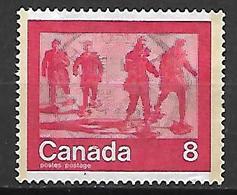 CANADA    -    Gens Marchant Avec Des Raquettes   -    Oblitéré - 1952-.... Règne D'Elizabeth II