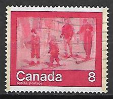 CANADA    -    Gens Faisant Du Ski De Fond   -    Oblitéré - 1952-.... Règne D'Elizabeth II