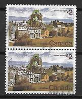CANADA    -    Constructions    -    Oblitérés En Paire - 1952-.... Règne D'Elizabeth II