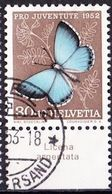"Schweiz Suisse Pro Juventute 1952: Zu 146 Mi 578 Yv 529 O BASEL + Tab Italiano ""Licena Argentata"" (SBK CHF 28.00) - Papillons"