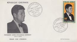 Enveloppe  FDC  1er  Jour    GABON    Président   John  KENNEDY   1964 - Kennedy (John F.)