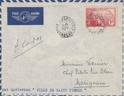 """Madagascar Vol Par Hydravion """" Ville De Saint Pierre"""" Pour La France 21 Novembre 1940 - Madagascar (1889-1960)"""