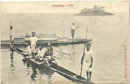 ( FIDJI  )( OCEANIE )  ( ETHNIE ET CULTURE ) CANOEING .FIJI - Fiji