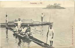 ( FIDJI  )( OCEANIE )  ( ETHNIE ET CULTURE ) CANOEING .FIJI - Fidji