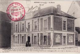 91 Mennecy La Mairie  Cachet Militaire Service Des GVC  GUERRE 14 18 - Mennecy