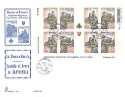 SAN MARINO - ROCCHE E LIBERTA' - FDC BUSTONE FOGLIETTO ANNO 2007 - FDC