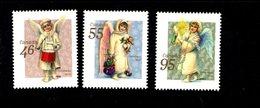770126243 1999 SCOTT 1815 1816 1817  POSTFRIS  MINT NEVER HINGED EINWANDFREI  (XX) - CHRISTMAS ANGELS 4 SIDES PERFORATED - 1952-.... Règne D'Elizabeth II