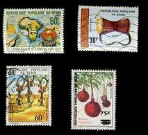Bénin - Oblitéré Used - Lot N° 36 De 4 Timbres Scannés Recto Verso - Bénin – Dahomey (1960-...)