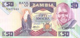 50 Kwacha Banknote Bank Of Zambia UNC - Sambia