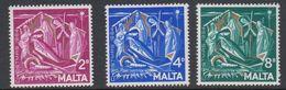 Malta 1964 Christmas / Weihnachten 3v ** Mnh (42796C) - Malta
