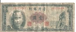 CHINE 1 YUAN 1961 VG+ P 1971 - China