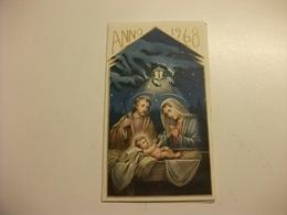 SANTINO HOLY PICTURE IMAGE SAINTE SACRA FAMIGLIA EPIFANIA 1968 CON CALENDARIO - Religione & Esoterismo