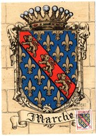 HERALDIQUE = 23 GUERET 1955 = CARTE MAXIMUM + CACHET PREMIER JOUR N° 1045 MARCHE - 1950-59