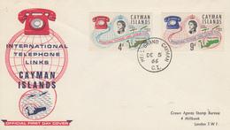 Enveloppe  FDC  1er  Jour    ILES  CAÏMANS    Liaisons  Téléphoniques  Internationales   1966 - Cayman Islands