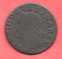 DOVBLE TOVRNOIS ( Double Tournois ) LOUIS XIII , 1643 + - 987-1789 Monnaies Royales